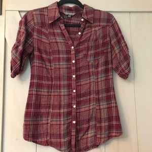 Nordstrom Plaid button up